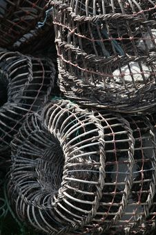 Free Fishing Traps Royalty Free Stock Photography - 3081967
