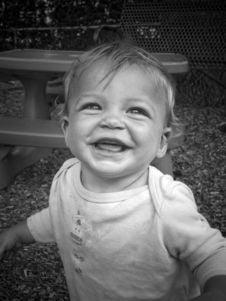 Happy Playground Baby Stock Photos