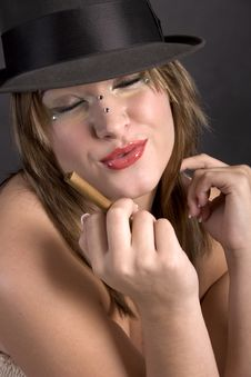 Free Cigar Lady Royalty Free Stock Photos - 3082258