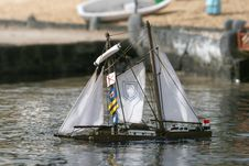Wooden Sail Boat Sinking Stock Image