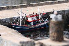 Wooden Fish Boat At Port Stock Image