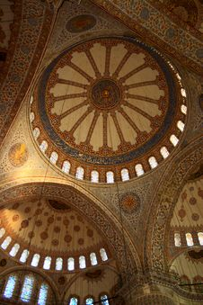 Free Cupola Of Mosque With Tile Stock Image - 3083671