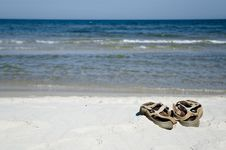 Free Sandals On The Beach Stock Image - 3083871
