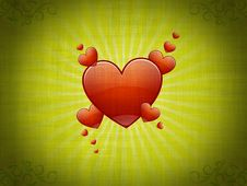 Free Background With Hearts Stock Photo - 3085890