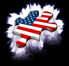 Free American Puzzle Plasma Expl. Royalty Free Stock Image - 3086286