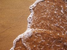 Free Sand And Water Royalty Free Stock Photo - 3086845