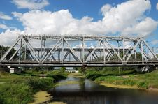 Free Railway Bridge Over Small Rive Stock Images - 3088234