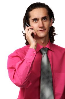 Free Sexy Business Man On The Phone Royalty Free Stock Photo - 3088335