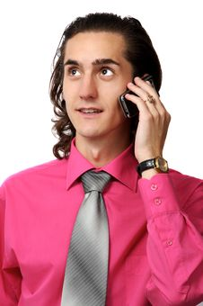 Free Sexy Business Man On The Phone Stock Photos - 3088363