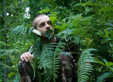 Free Wild Forest Man Stock Image - 3088901