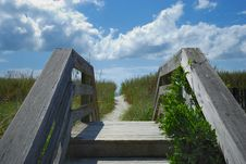 Free Winding Trail Leading To Beach Stock Photography - 3089622