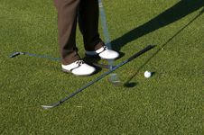 Free Golf Practice Shot Royalty Free Stock Photo - 3089825