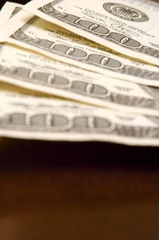 Free One Hundred Dollar Bills Royalty Free Stock Photography - 3089897