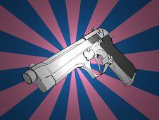 Free 3D Gun Royalty Free Stock Images - 3089979