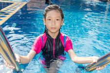 Free Girl Side Of Swimming Pool Stock Photo - 30801800
