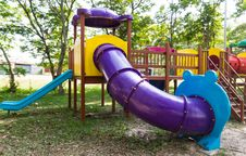 Free Modern Children Playground In Park Royalty Free Stock Photo - 30802455
