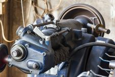 Free Old Lathe In Workshop Stock Image - 30802611