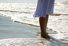 Free Girl S Legs On The Beach Stock Image - 30804581