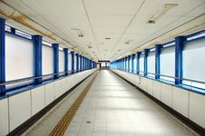 Empty Long Corridor Royalty Free Stock Photography