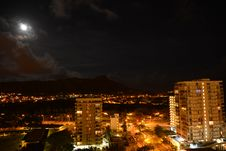 Free Moonlit Diamond Head Stock Photography - 30810032