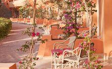 Free Veranda Of Egyptian Resort Royalty Free Stock Image - 30810226