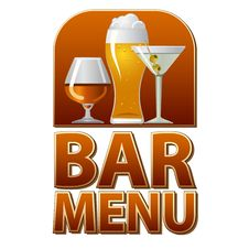 Free Bar Menu Sign Royalty Free Stock Images - 30810629