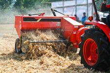 Free Corn Cob Briquette And Tractor Orange Color Stock Photo - 30812210