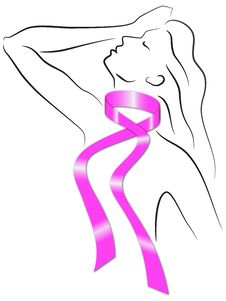 Free Breast Cancer Pink Ribbon Women Royalty Free Stock Photo - 30813075