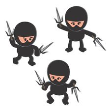 Free Ninja Cartoon Character Stock Photo - 30813180