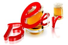 Free Beer 3D Stock Images - 30816254