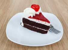 Free Chocolate Cake And Fresh Cherry Stock Images - 30819074