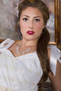Free Beautiful Young Bride In Wedding Gown Stock Photography - 30821902