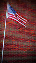 Free Stars & Stripes Against Brick Wall Royalty Free Stock Image - 30822306