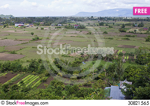 Free Aerial View Of Rural Area Royalty Free Stock Photo - 30821565