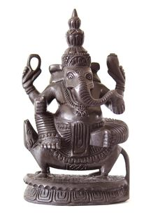 Free Wooden Statue Of Ganesha Royalty Free Stock Images - 30820019