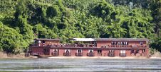 Houseboat On Mekong Stock Image