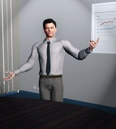 Free Smart Business Guy Royalty Free Stock Image - 30821656
