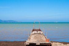 Beach Pier Royalty Free Stock Photography