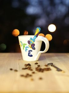 Free Hot Cup Of Coffee Stock Image - 30824711