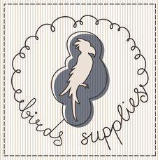 Free Birds Supplies Label Stock Image - 30827371