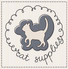 Free Cat Supplies Label Royalty Free Stock Photography - 30827377