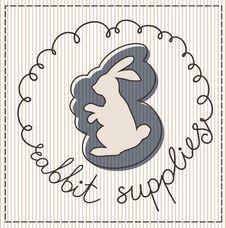 Free Rabbit Supplies Label Royalty Free Stock Photo - 30827405