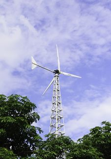 Free Windmill With Blue Sky Stock Photography - 30827572