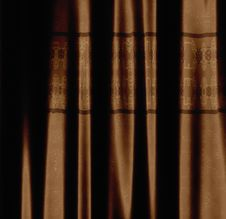 Free Brown Curtain With Pattern Royalty Free Stock Photos - 30829058