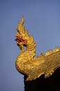 Free Thai Golden Dragon On A Background Of Blue Sky Stock Images - 30832814