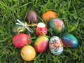 Free Easter Eggs On Grass Background Royalty Free Stock Photo - 30835345