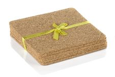 Free Cork Coasters Under Glasses Stock Image - 30831011
