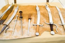 Free Medieval Blades On Display Stock Image - 30832921