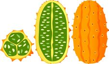 Free Horned Melon, Kiwano, African Horned Cucumber Stock Photography - 30833902