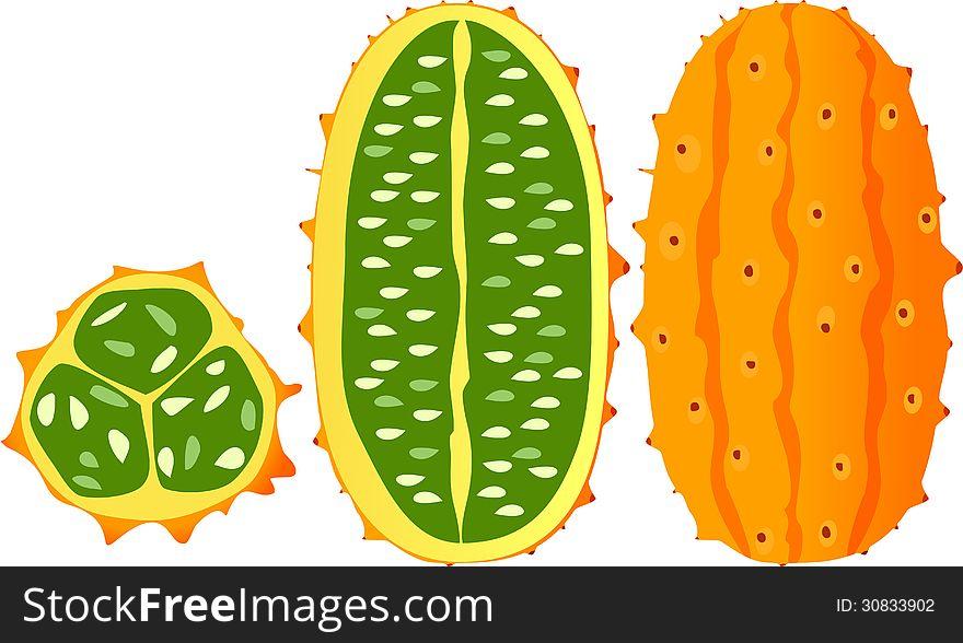 Horned melon, kiwano, African horned cucumber